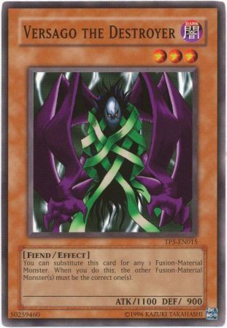 YuGiOh Tournament Pack 5 Common Versago the Destroyer TP5-EN015