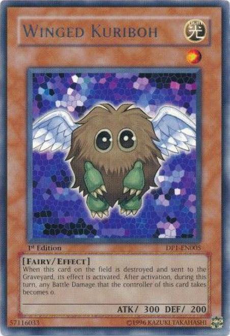 YuGiOh GX Trading Card Game Duelist Pack Jaden Yuki Rare Winged Kuriboh DP1-EN005