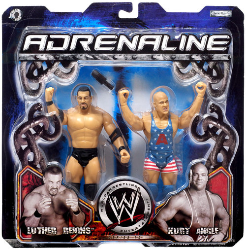 WWE Wrestling Adrenaline Series 13 Luther Reigns & Kurt Angle Action Figure 2-Pack