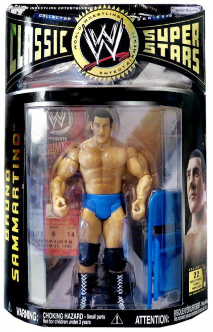 WWE Wrestling Classic Superstars Series 10 Bruno Sammartino Action Figure