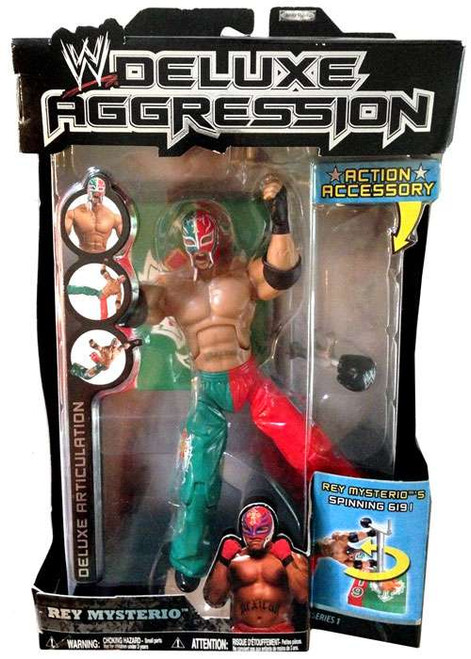 WWE Wrestling Deluxe Aggression Series 1 Rey Mysterio Action Figure