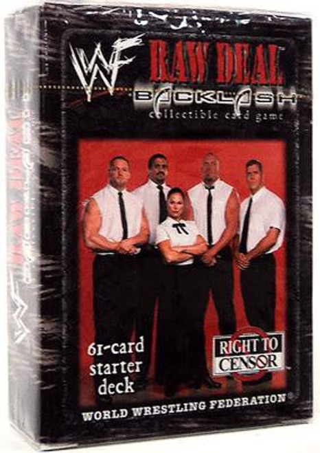 WWE Wrestling Raw Deal Trading Card Game Backlash Right To Censor Starter Deck