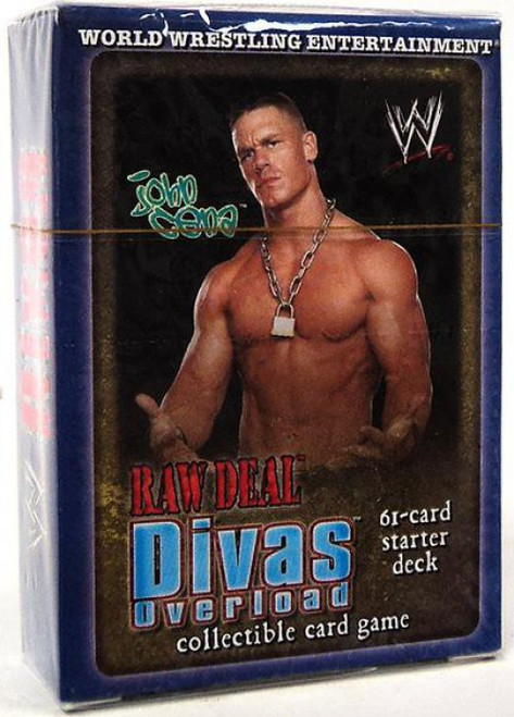 WWE Wrestling Raw Deal Trading Card Game Divas Overloaded John Cena Starter Deck