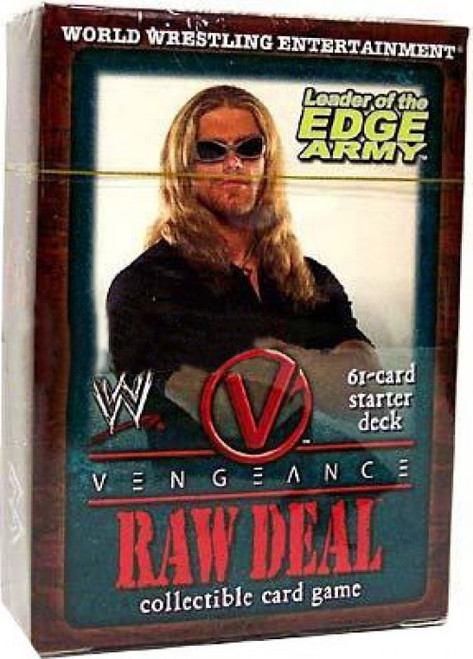 WWE Wrestling Raw Deal Trading Card Game Vengeance Leader of the Edge Army Starter Deck