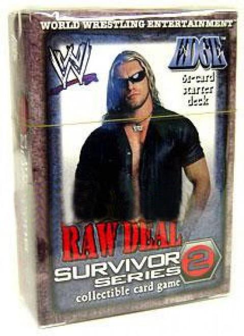 WWE Wrestling Raw Deal Trading Card Game Survivor Series 2 Edge Starter Deck