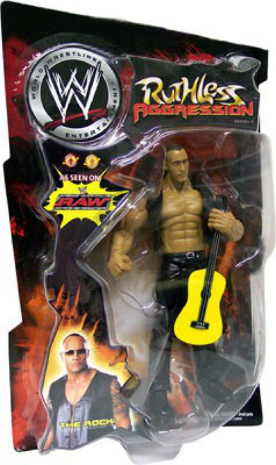 WWE Wrestling Ruthless Aggression Series 4 The Rock Action Figure