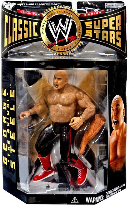 """WWE Wrestling Classic Superstars Series 2 George """"The Animal"""" Steele Action Figure [Real Hair]"""