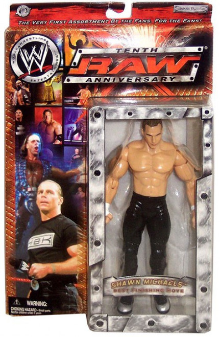 WWE Wrestling Raw 10th Anniversary Shawn Michaels Action Figure