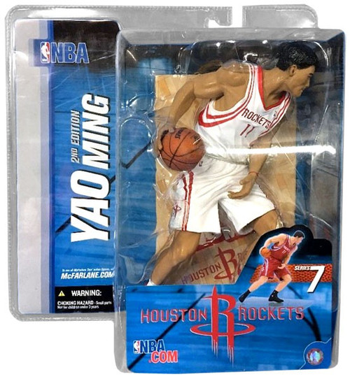 McFarlane Toys NBA Houston Rockets Sports Picks Series 7 Yao Ming Action Figure [White Jersey Variant]