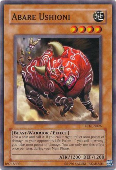 YuGiOh Flaming Eternity Common Abare Ushioni FET-EN026