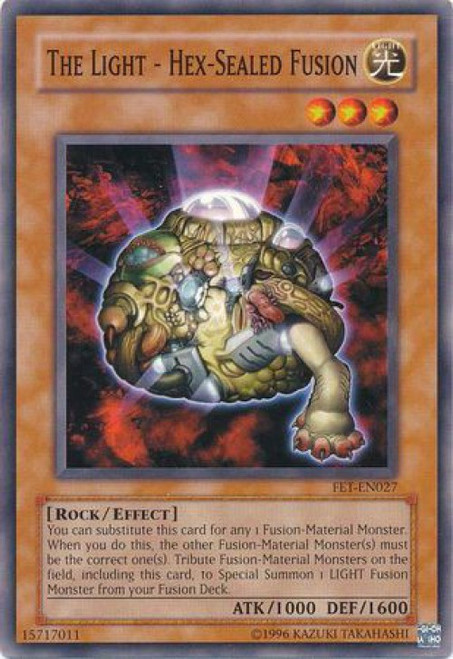YuGiOh Flaming Eternity Common The Light - Hex - Sealed Fusion FET-EN027