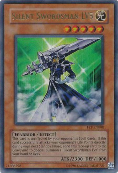 YuGiOh Flaming Eternity Ultra Rare Silent Swordsman LV5 FET-EN008