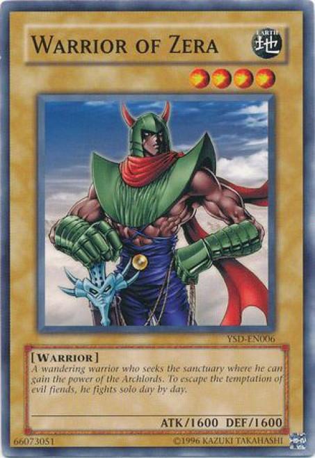 YuGiOh GX Trading Card Game 2006 Starter Deck Common Warrior of Zera YSD-EN006
