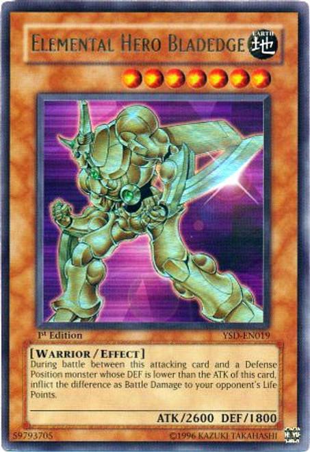 YuGiOh GX Trading Card Game 2006 Starter Deck Ultra Rare Elemental Hero Bladedge YSD-EN019