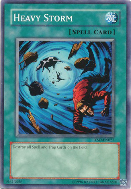 YuGiOh GX Trading Card Game 2006 Starter Deck Common Heavy Storm YSD-EN027