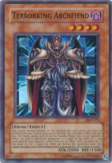 YuGiOh Dark Crisis Super Rare Terrorking Archfiend DCR-072