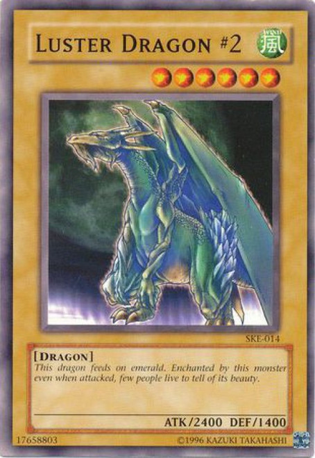 YuGiOh Kaiba Evolution Common Luster Dragon #2 SKE-014