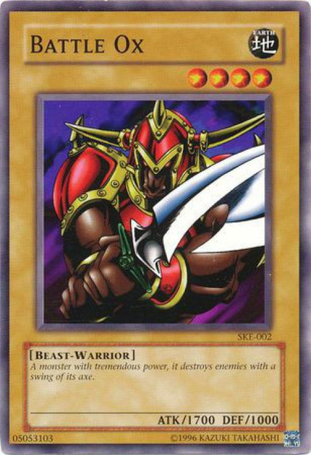 YuGiOh Kaiba Evolution Common Battle Ox SKE-002