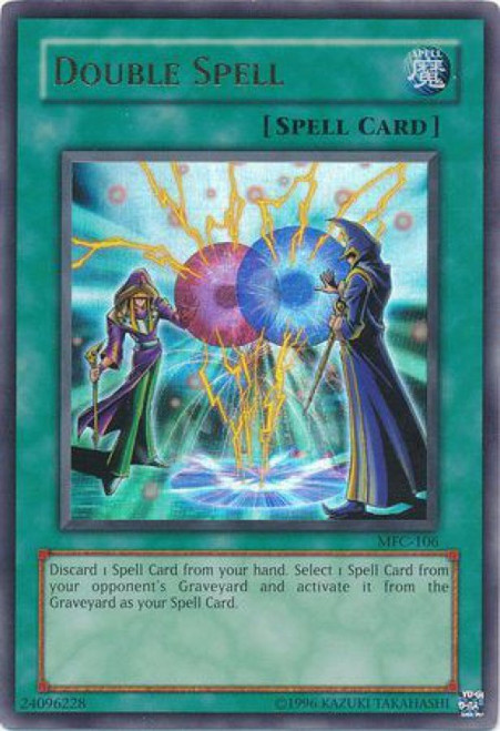 YuGiOh Magician's Force Ultra Rare Double Spell MFC-106