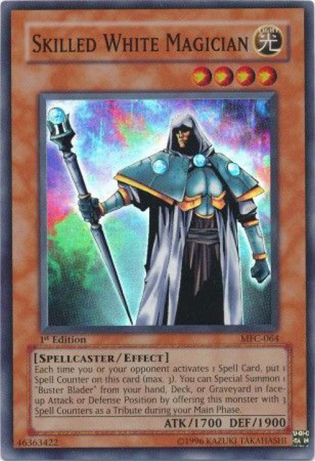 YuGiOh Magician's Force Super Rare Skilled White Magician MFC-064