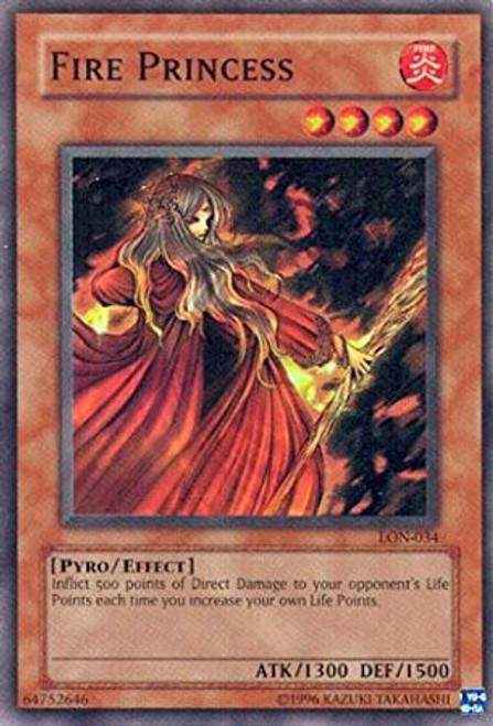 YuGiOh Labyrinth of Nightmare Super Rare Fire Princess LON-034