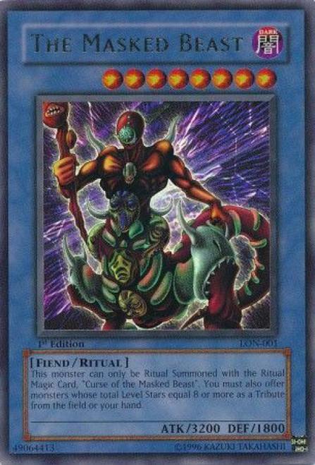 YuGiOh Labyrinth of Nightmare Rare The Masked Beast LON-001