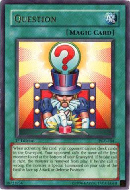 YuGiOh Pharaonic Guardian Ultra Rare Question PGD-104