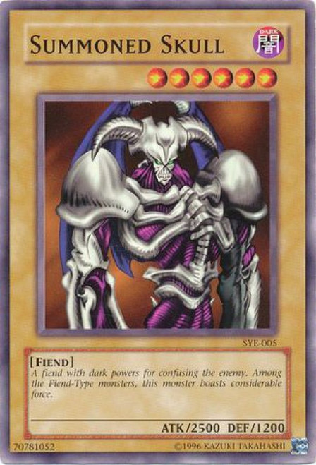 YuGiOh Yugi Evolution Deck Common Summoned Skull SYE-005