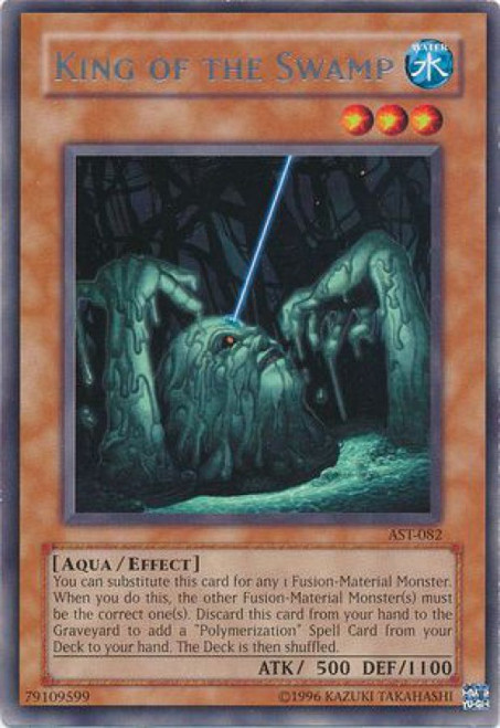 YuGiOh Ancient Sanctuary Rare King of the Swamp AST-082