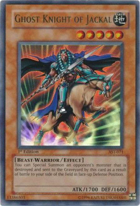 YuGiOh Ancient Sanctuary Ultra Rare Ghost Knight of Jackal AST-071