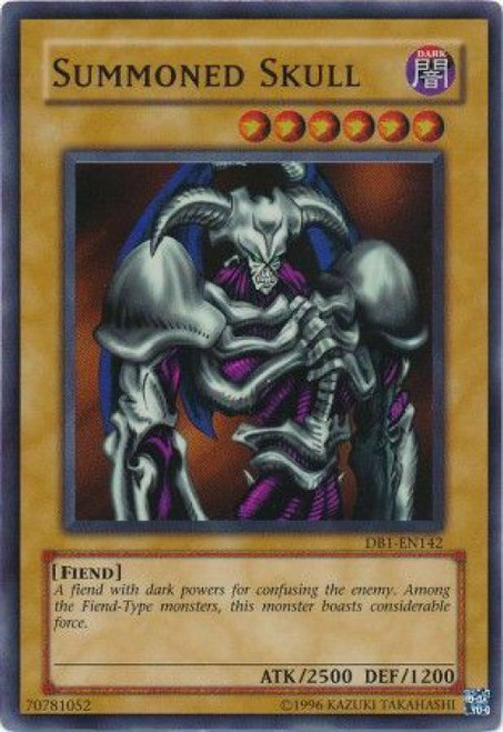 YuGiOh Dark Beginning 1 Super Rare Summoned Skull DB1-EN142