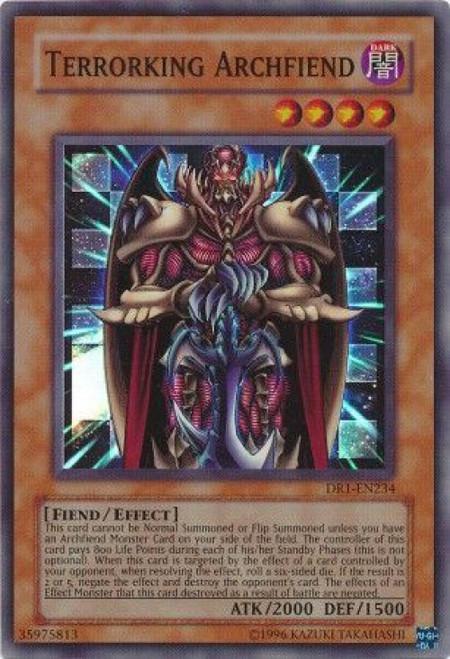 YuGiOh Dark Revelation 1 Super Rare Terrorking Archfiend DR1-EN234