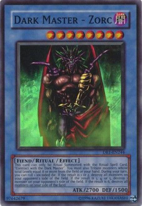 YuGiOh Dark Revelation 1 Super Rare Dark Master Zorc DR1-EN244