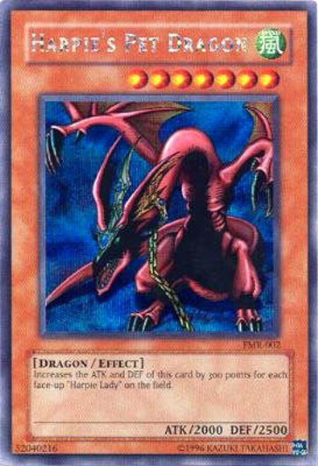 YuGiOh Forbidden Memories Secret Rare Harpie's Pet Dragon FMR-002