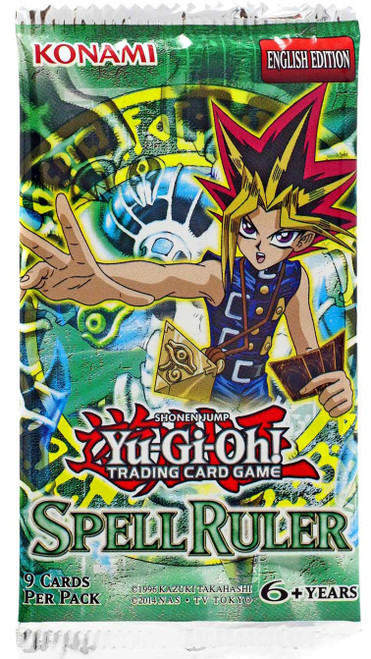 YuGiOh Trading Card Game Spell Ruler Booster Pack [9 Cards]