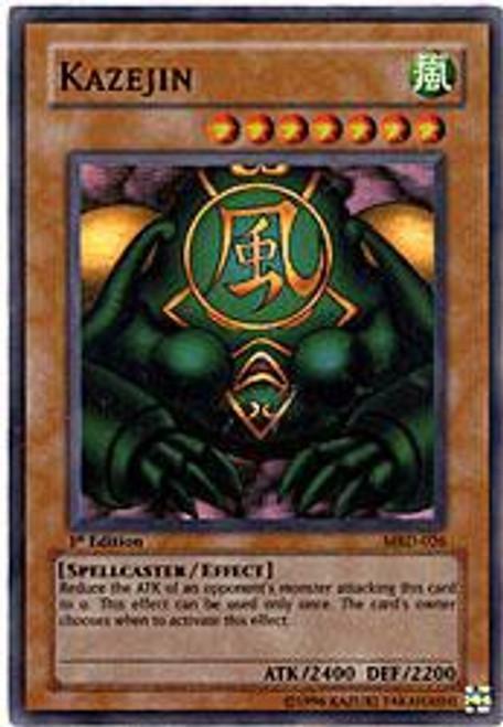 YuGiOh Metal Raiders Super Rare Kazejin MRD-026