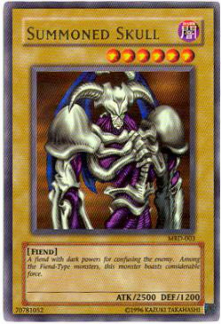 YuGiOh Metal Raiders Ultra Rare Summoned Skull MRD-003