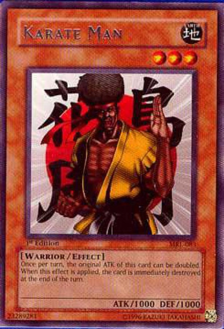 YuGiOh Magic Ruler Rare Karate Man MRL-083