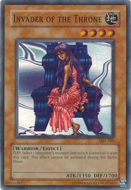 YuGiOh Magic Ruler Super Rare Invader of the Throne MRL-026