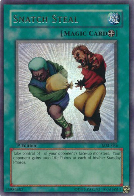 YuGiOh Magic Ruler Ultra Rare Snatch Steal MRL-036