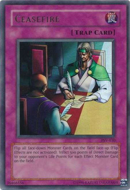 YuGiOh Pharaoh's Servant Ultra Rare Ceasefire PSV-030