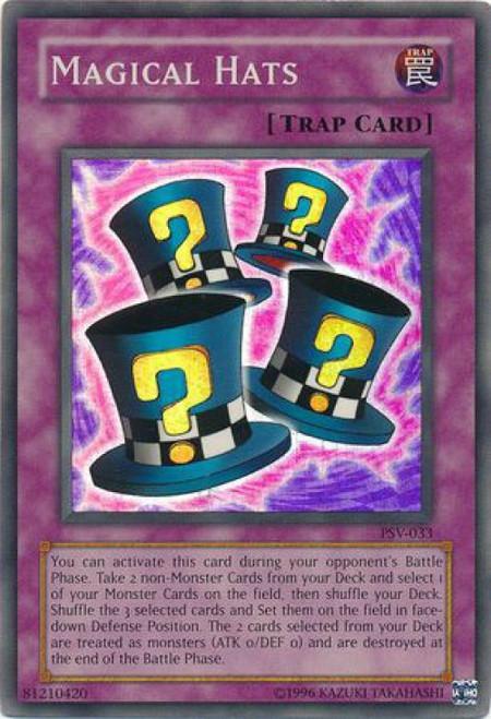 YuGiOh Pharaoh's Servant Super Rare Magical Hats PSV-033
