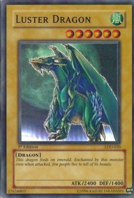 YuGiOh Legacy of Darkness Super Rare Luster Dragon LOD-050
