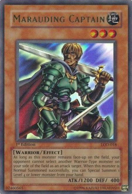 YuGiOh Legacy of Darkness Ultra Rare Marauding Captain LOD-018