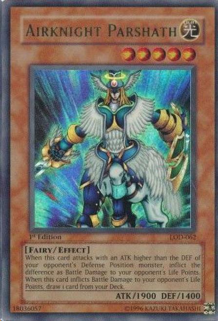 YuGiOh Legacy of Darkness Ultra Rare Airknight Parshath LOD-062