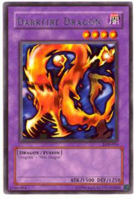 YuGiOh Legend of Blue Eyes White Dragon Rare Darkfire Dragon LOB-019