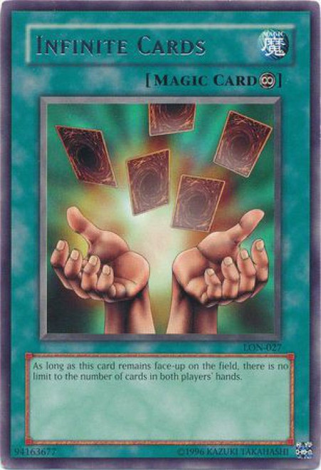 YuGiOh Labyrinth of Nightmare Rare Infinite Cards LON-027