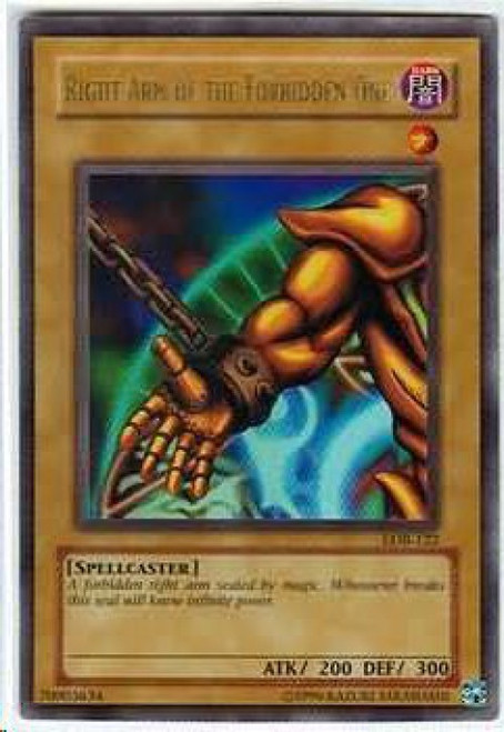 YuGiOh Legend of Blue Eyes White Dragon Ultra Rare Right Arm of the Forbidden One LOB-122