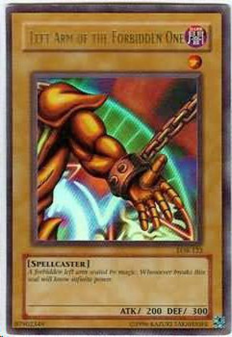 YuGiOh Legend of Blue Eyes White Dragon Ultra Rare Left Arm of the Forbidden One LOB-123