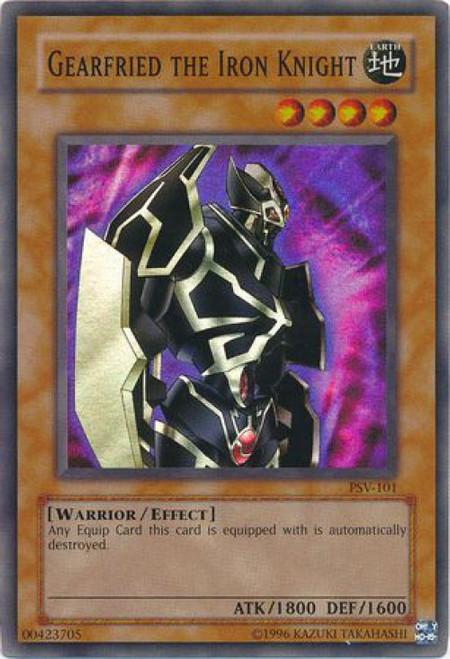 YuGiOh Pharaoh's Servant Super Rare Gearfried the Iron Knight PSV-101